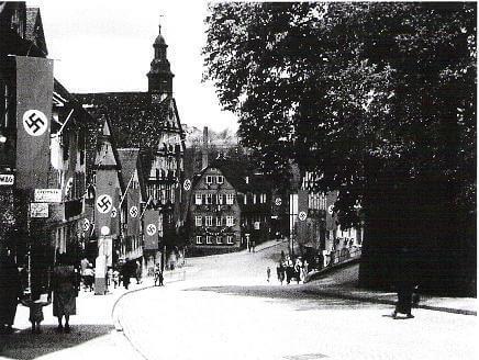Die Marktstraße in Backnang