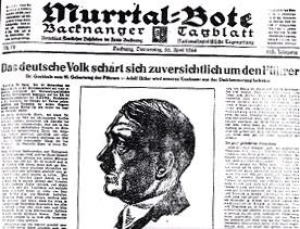 Das Deutsche Volk schart sich zuversichtlich um den Führer