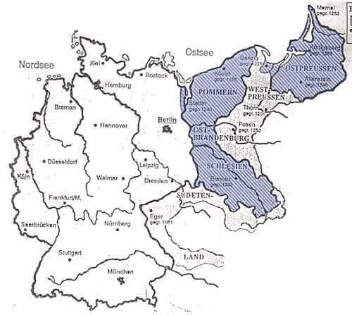 Die Gebiete östlich der Oder-Neiße-Linie