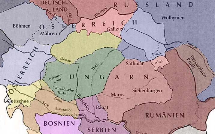 Die Donauländer um 1914