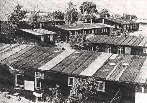Baracken auf der Maubacher Höhe