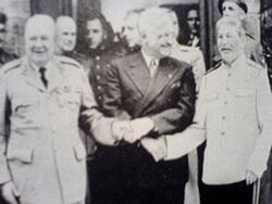 Die Teilnehmer der Potsdamer Konferenz